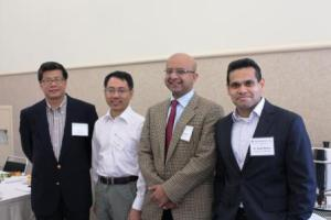 RheoSense and Speakers. Left to right: Vitus Lau, Dr. Li Song (Oligasis), Dr. Jai Pathak (MedImmune), and Dr. Rajib Ahmed