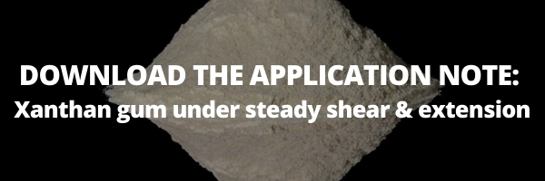 DOWNLOAD THE APPLICATION NOTE Xanthan gum under steady shear & extension