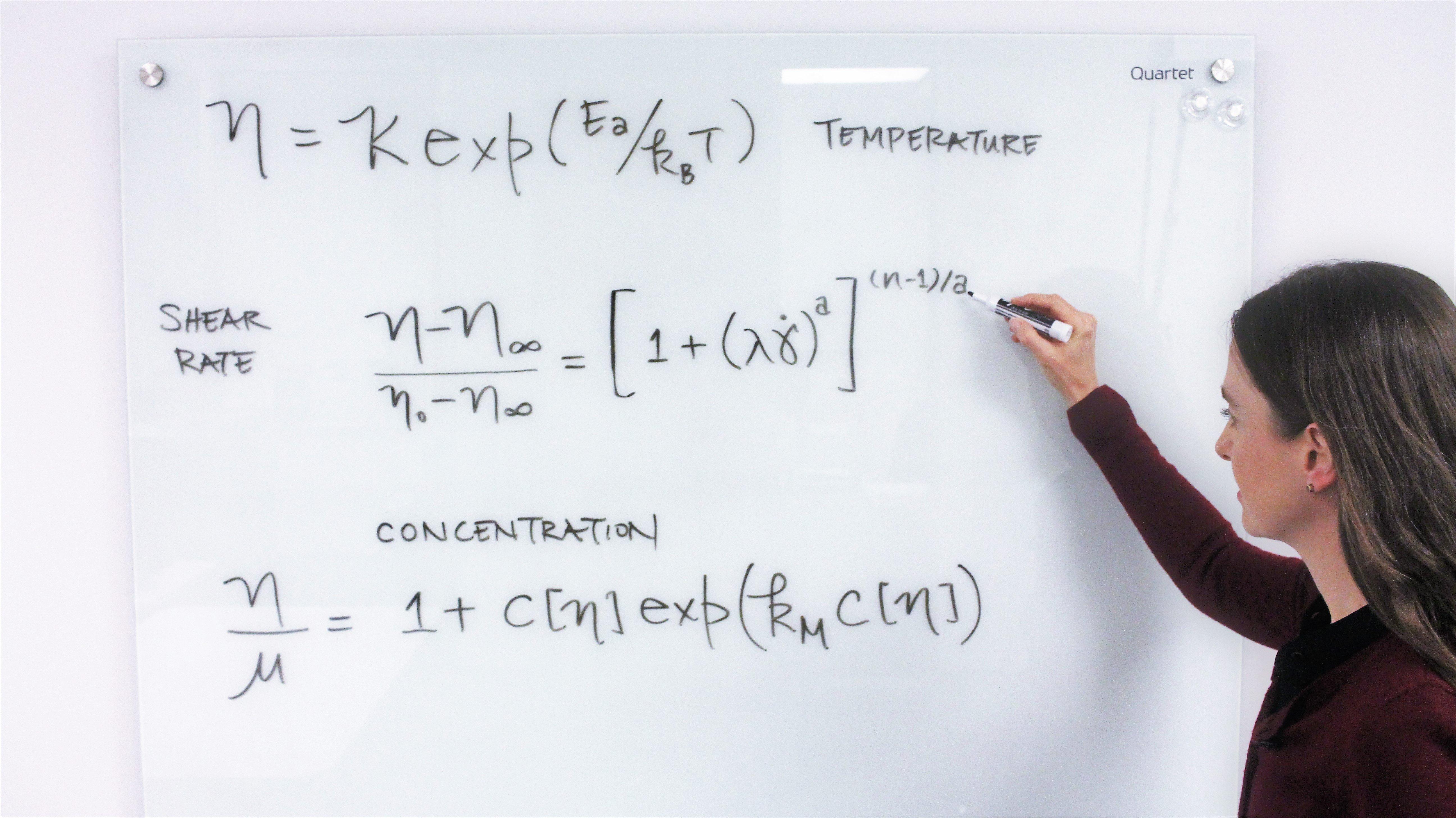 Dr. Stacey Elliott, Ph.D. explaining Rheology Equations