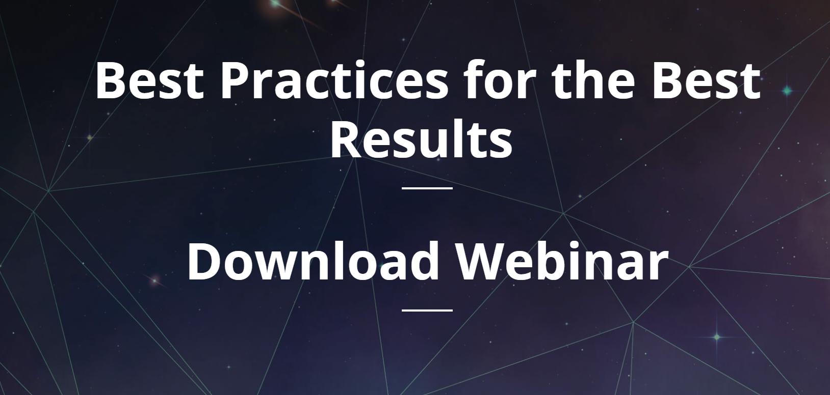 Download Webinar - Best Practices